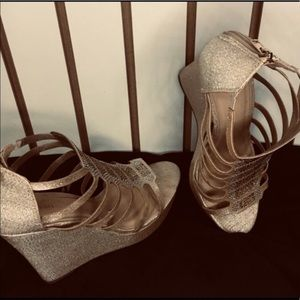 Caged Wedge Heels